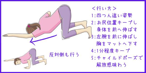 体側伸ばしの行い方